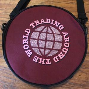 Disney Bags - Burgundy Glitter Epcot Disney Pin Trading Bag